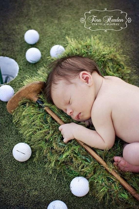Golfers Green Grass Look Photo Prop Baby Blanket By Babybirdz