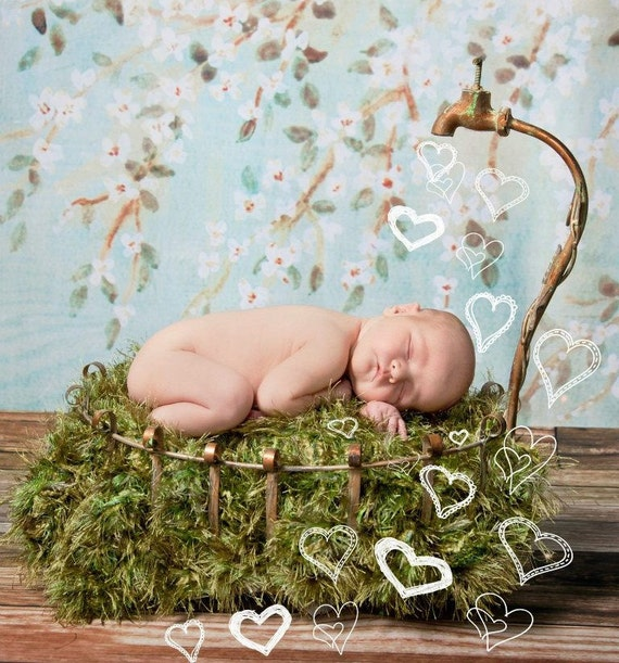 Photo Prop 'Grass' Patch Baby Blanket Photo Props. Green Patch of Grass 2x2 Rug