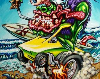 BigToe's Surfite Summer archival art print
