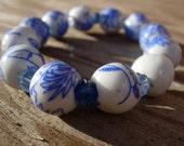 Reserved for Jacquelynn -Oriental Glass Bracelet