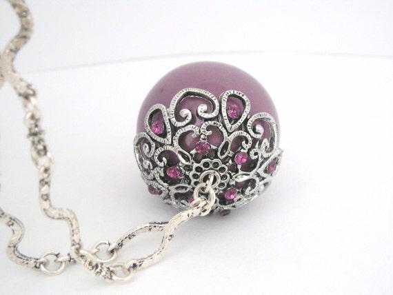 BLACK FRIDAY ETSY Victorian amethyst pendant silver necklace