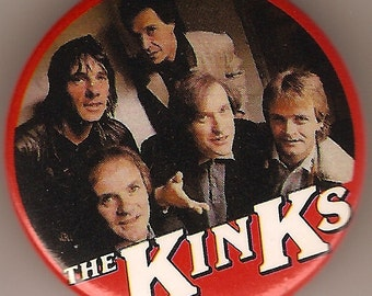 The Kinks Pinback Badge Ray Davies 80s