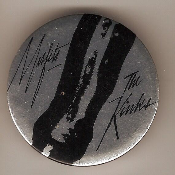 Kinks Misfits Pinback Badge 1978 Silver