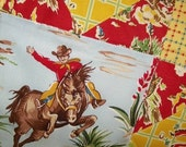 Happy Trails Vintage Style Cowboy - Quilted Pad, Table topper