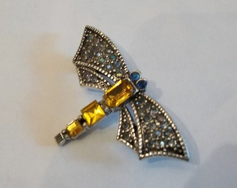 Victorian Dragonfly Pave Rhinestone Brooch FOLKLORE FANTASY
