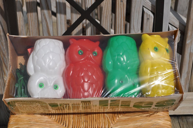 Outdoor String Lights Plastic Bulbs : Owl String Lights Plastic Blowmold Indoor Outdoor Lanterns 7