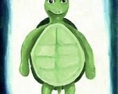 Turtle nursery wall art, Animal print, kids room wall art, Babys room decor