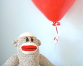 Sock Monkey Stuffed toy - Doll, Handmade, Children's Toy, Stuffed Animal