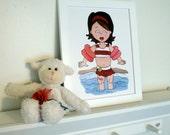 Girls Room Art, Nursery wall decor, Baby Girl Art, 8x10