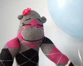 Handmade Sock Monkey Girl