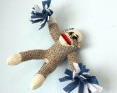 Custom Sock Monkey Cheerleader
