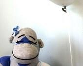 Stuffed Sock Monkey Doll