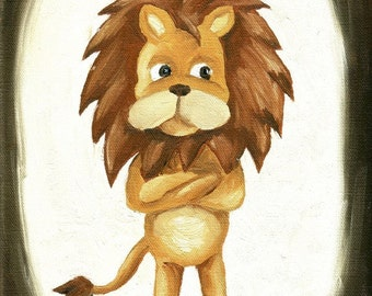 Lion Painting Print