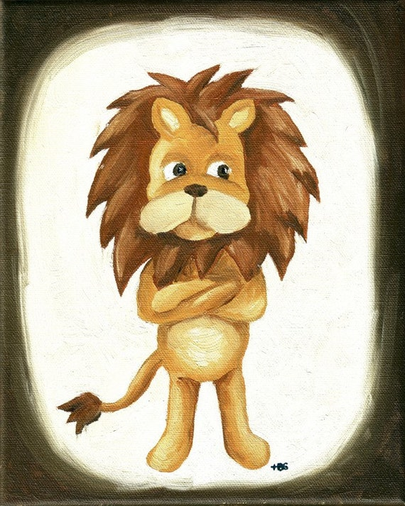 Original oil painting of Lion - reserved for Afrokitsch