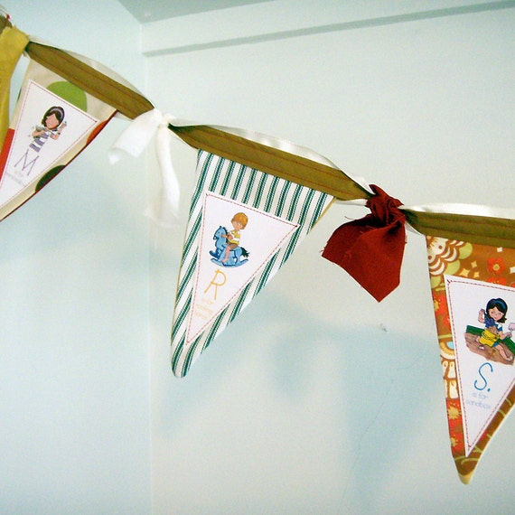 Custom Bunting Banner Personalized Name - 5-6 flags