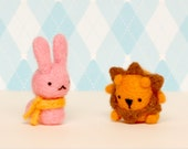 CUSTOM LISTING for Mephala: scarf bunny & small lion