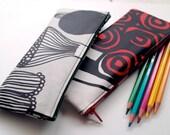 Set of 2 Laminated Pen Case - marimekko fabric