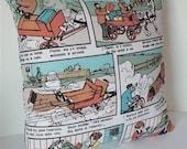 "Print on Both Sides / Pop Art Modern decorative Cushion cover 18""x18"" / European Comic"