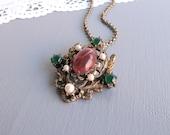 Vintage Glass Gem Necklace
