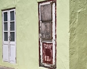 Urban Street Photography House Front Door Lime Green Photo
