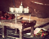Still life photography, Morocco Photograph,North Africa Berber Tent, Tea Time, Fine Art Photography Print, Moroccan Wall art
