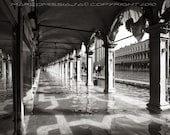 High Water Under Saint Marks Arcades - Original Signed Photo