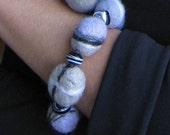 """A felt bracelet """"sea stones"""""""