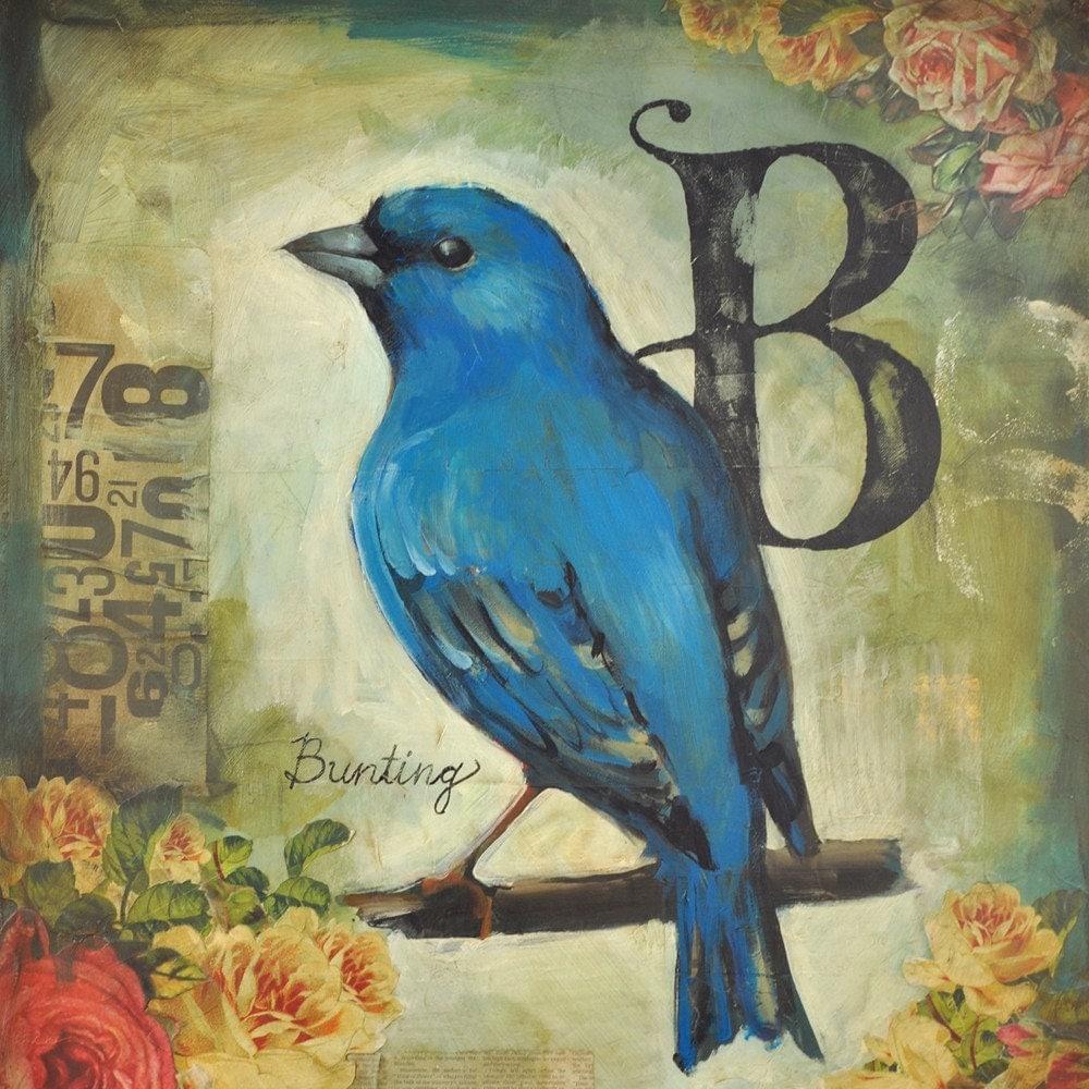vintage bird paintings | eBay
