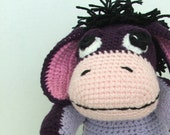 Eeyore the Donkey Plushie Doll, inspired by the Disney character