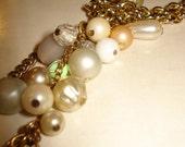 RESERVED FOR BOBANDBELLE Winter Wonderland White Beaded Lariat Necklace