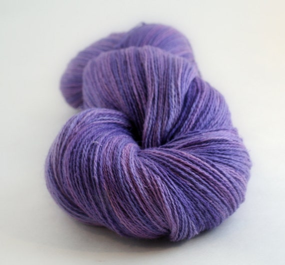 Silk Knitting Yarn : Knitting yarn Silk Linen hand dyed SQUASHED GRAPES in MARLA 756 yards