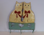 Tin Cats Key Holder Reserved for Emma U.K.
