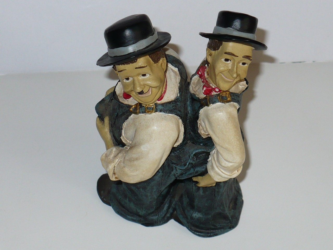 Laurel And Hardy Figurines Statue Oliver And Stanley 1950s