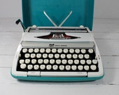 Two Toned Teal Smith Corona Typewriter
