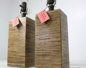 Modern Square Wood Table Lamp-Medium Walnut