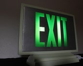 Upcycled Aluminum Exit Sign Light Box