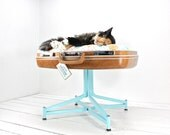 RESERVED Upcycled Suitcase Pet Bed with Pedestal Base