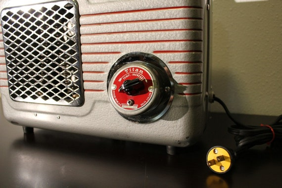 Vintage Retro Electric Titan Space Heater By Atomicattic