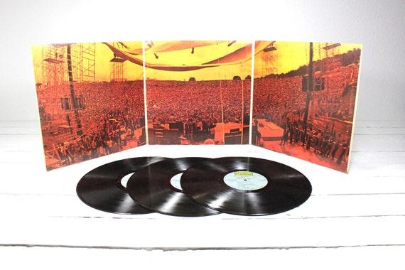 Vintage Woodstock Three Record Set Original Soundtrack