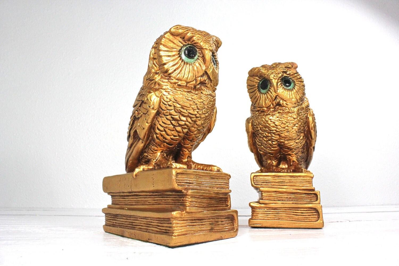 Progressive Art Owl Bookends 1966 By Atomicattic On Etsy