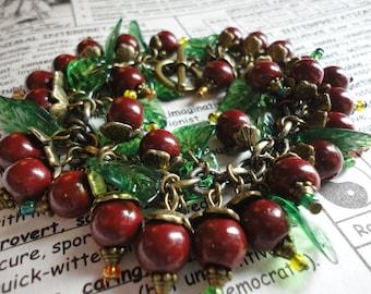 Woodland Wild Berries Charm Bracelet - AWESOME