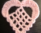 Fillet Heart Motif / Applique (001)