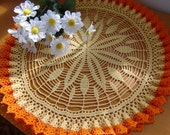 Clearance SALE 50% OFF * Tiger Lily Doily with Ruffles (sob13)