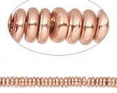 Solid Copper Rondelle or Heishi Spacers 15pcs