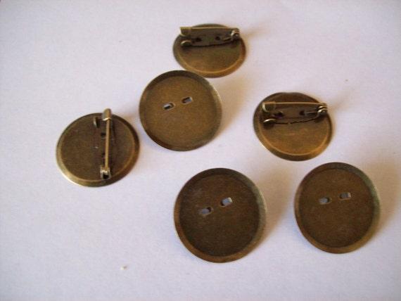 Brass Pin Brooch/Cabochon Blanks