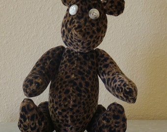 Leopard Print Small Teddy Bear