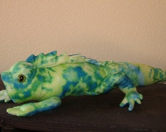 Plush Tie-Dye Iguana