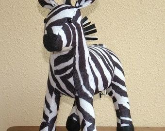 Plush Felt Zebra