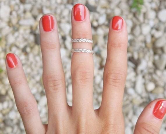 Double Braid Upper Finger Ring