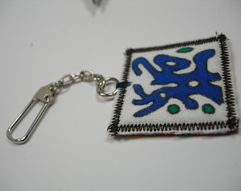 Square Quilt keychain or bag charm